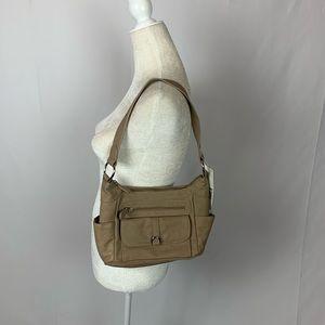 Laura Scott Faux Leather Shoulder Handbag